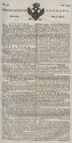 Middelburgsche Courant 1777-04-05