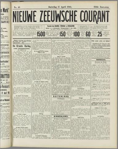 Nieuwe Zeeuwsche Courant 1915-04-17
