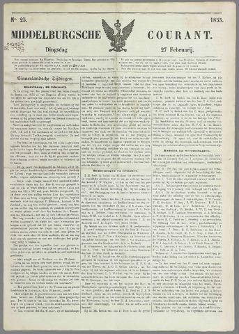 Middelburgsche Courant 1855-02-27