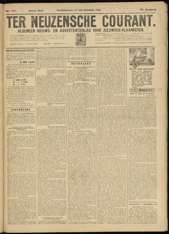 Ter Neuzensche Courant. Algemeen Nieuws- en Advertentieblad voor Zeeuwsch-Vlaanderen / Neuzensche Courant ... (idem) / (Algemeen) nieuws en advertentieblad voor Zeeuwsch-Vlaanderen 1933-12-27