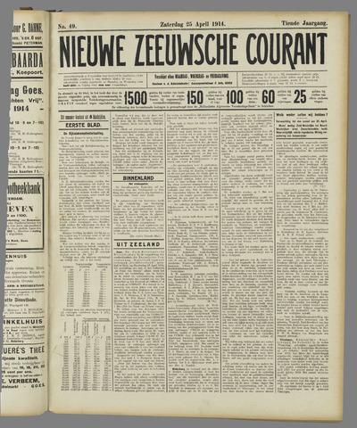 Nieuwe Zeeuwsche Courant 1914-04-25