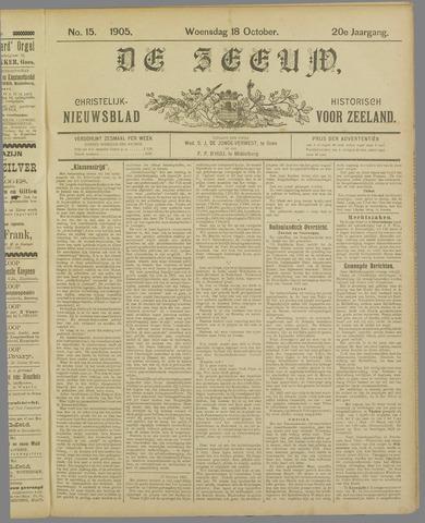 De Zeeuw. Christelijk-historisch nieuwsblad voor Zeeland 1905-10-18