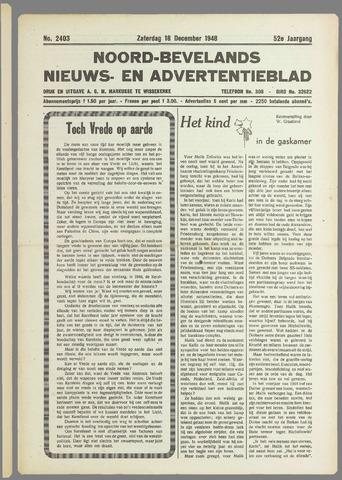 Noord-Bevelands Nieuws- en advertentieblad 1948-12-18
