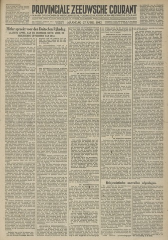 Provinciale Zeeuwse Courant 1942-04-27