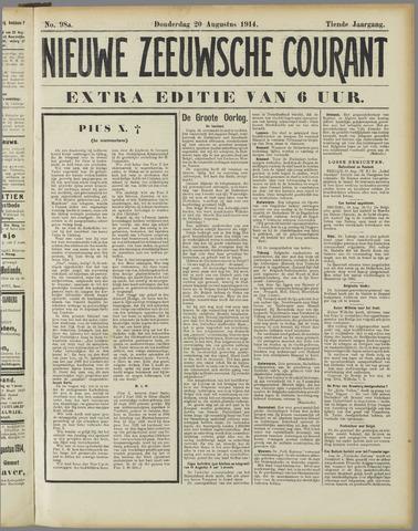 Nieuwe Zeeuwsche Courant 1914-08-20
