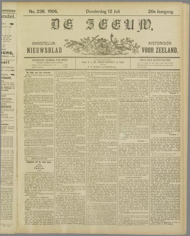 De Zeeuw. Christelijk-historisch nieuwsblad voor Zeeland 1906-07-12