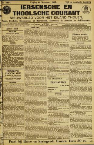 Ierseksche en Thoolsche Courant 1927-11-18