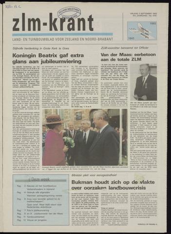 Zeeuwsch landbouwblad ... ZLM land- en tuinbouwblad 1993-09-03