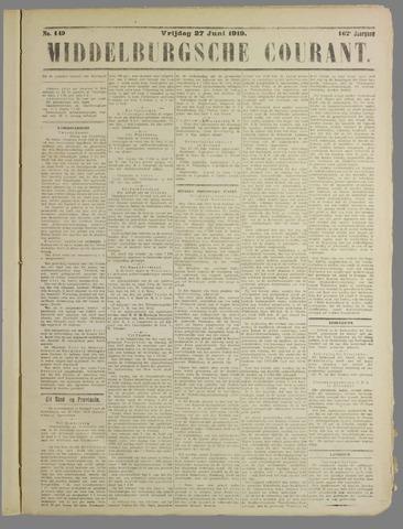 Middelburgsche Courant 1919-06-27