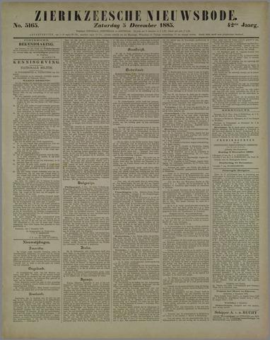 Zierikzeesche Nieuwsbode 1885-12-05