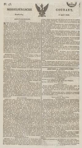 Middelburgsche Courant 1829-04-09