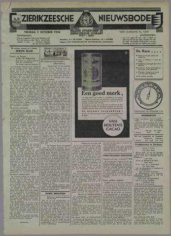 Zierikzeesche Nieuwsbode 1936-10-02