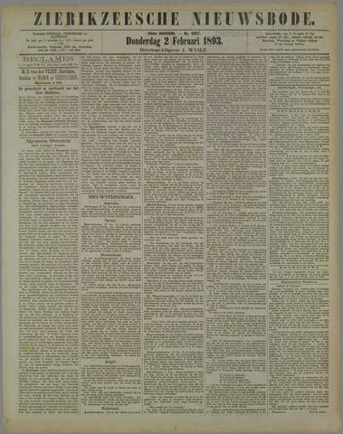 Zierikzeesche Nieuwsbode 1893-02-02