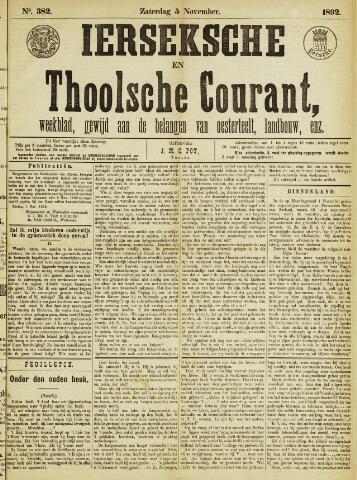Ierseksche en Thoolsche Courant 1892-11-05