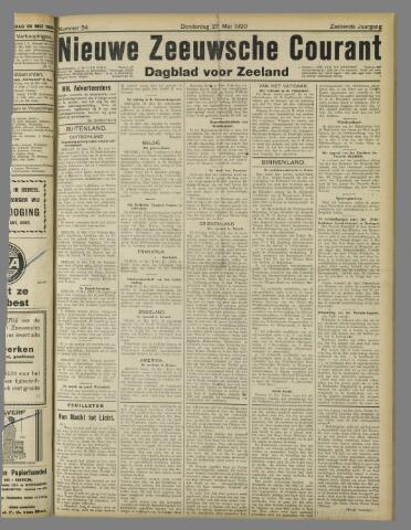 Nieuwe Zeeuwsche Courant 1920-05-27