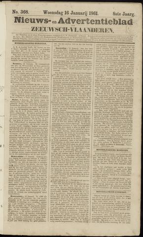 Ter Neuzensche Courant. Algemeen Nieuws- en Advertentieblad voor Zeeuwsch-Vlaanderen / Neuzensche Courant ... (idem) / (Algemeen) nieuws en advertentieblad voor Zeeuwsch-Vlaanderen 1861-01-16