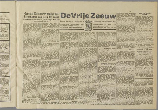 de Vrije Zeeuw 1944-11-23