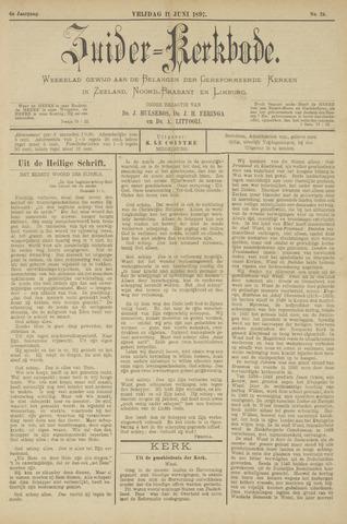 Zuider Kerkbode, Weekblad gewijd aan de belangen der gereformeerde kerken in Zeeland, Noord-Brabant en Limburg. 1897-06-11