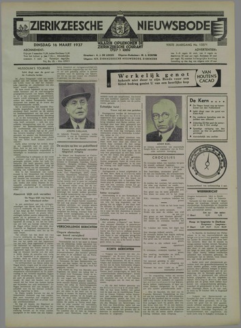 Zierikzeesche Nieuwsbode 1937-03-16
