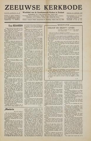 Zeeuwsche kerkbode, weekblad gewijd aan de belangen der gereformeerde kerken/ Zeeuwsch kerkblad 1956-01-20