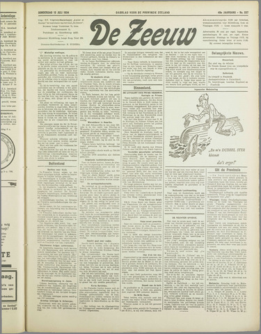 De Zeeuw. Christelijk-historisch nieuwsblad voor Zeeland 1934-07-12