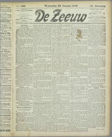 De Zeeuw. Christelijk-historisch nieuwsblad voor Zeeland 1919-01-29