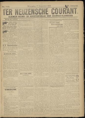 Ter Neuzensche Courant. Algemeen Nieuws- en Advertentieblad voor Zeeuwsch-Vlaanderen / Neuzensche Courant ... (idem) / (Algemeen) nieuws en advertentieblad voor Zeeuwsch-Vlaanderen 1924-12-17