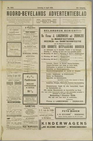 Noord-Bevelands Nieuws- en advertentieblad 1928-04-14