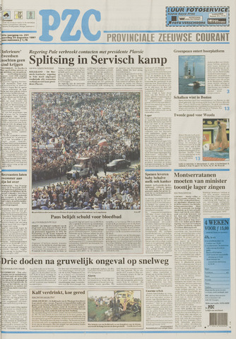 Provinciale Zeeuwse Courant 1997-08-25