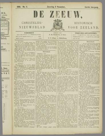 De Zeeuw. Christelijk-historisch nieuwsblad voor Zeeland 1886-11-06