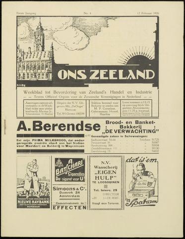 Ons Zeeland / Zeeuwsche editie 1926-02-12