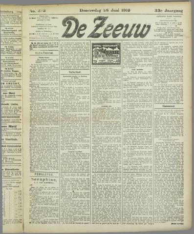 De Zeeuw. Christelijk-historisch nieuwsblad voor Zeeland 1919-06-26
