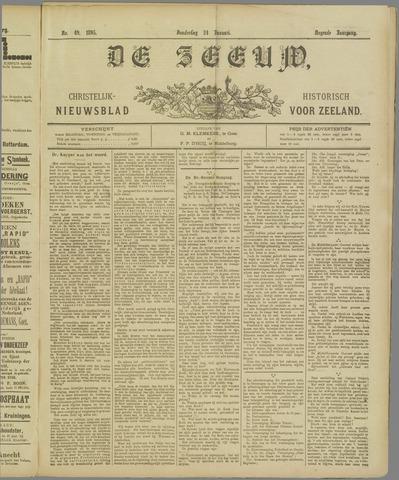 De Zeeuw. Christelijk-historisch nieuwsblad voor Zeeland 1895-01-24