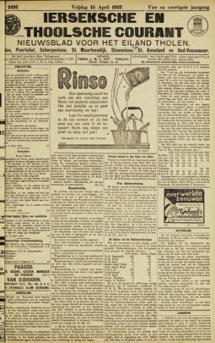 Ierseksche en Thoolsche Courant 1927-04-15