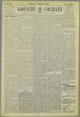 Goessche Courant 1919-08-05