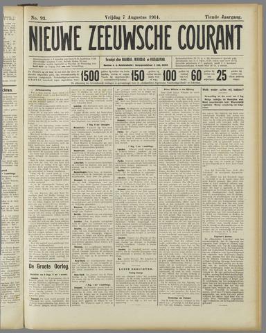 Nieuwe Zeeuwsche Courant 1914-08-07