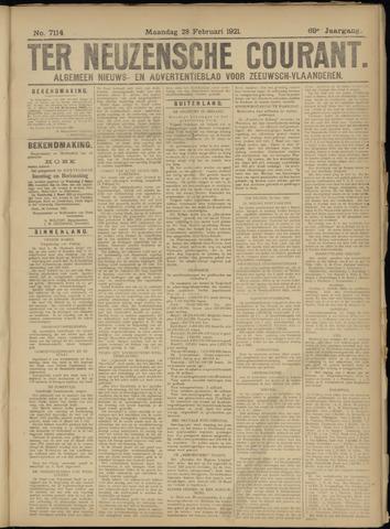 Ter Neuzensche Courant. Algemeen Nieuws- en Advertentieblad voor Zeeuwsch-Vlaanderen / Neuzensche Courant ... (idem) / (Algemeen) nieuws en advertentieblad voor Zeeuwsch-Vlaanderen 1921-02-28