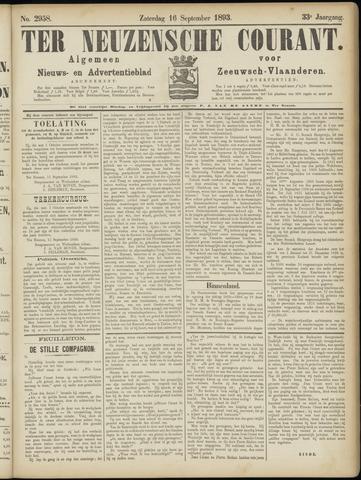 Ter Neuzensche Courant. Algemeen Nieuws- en Advertentieblad voor Zeeuwsch-Vlaanderen / Neuzensche Courant ... (idem) / (Algemeen) nieuws en advertentieblad voor Zeeuwsch-Vlaanderen 1893-09-16