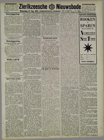 Zierikzeesche Nieuwsbode 1921-08-31