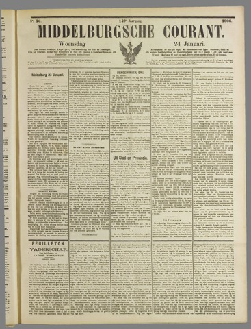 Middelburgsche Courant 1906-01-24