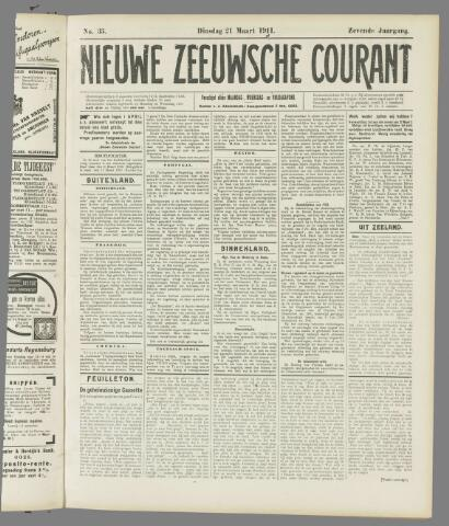 Nieuwe Zeeuwsche Courant 1911-03-21