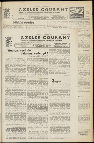 Axelsche Courant 1953-09-23