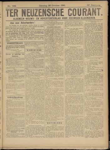 Ter Neuzensche Courant. Algemeen Nieuws- en Advertentieblad voor Zeeuwsch-Vlaanderen / Neuzensche Courant ... (idem) / (Algemeen) nieuws en advertentieblad voor Zeeuwsch-Vlaanderen 1920-10-26
