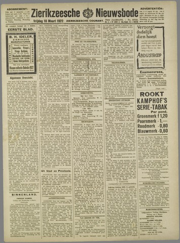 Zierikzeesche Nieuwsbode 1922-03-10