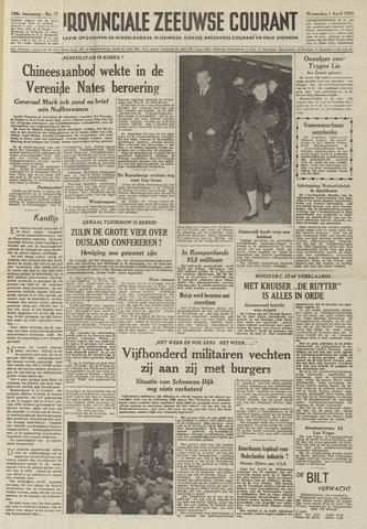 Provinciale Zeeuwse Courant 1953-04-01