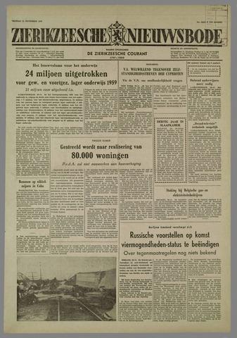 Zierikzeesche Nieuwsbode 1958-11-21