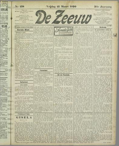 De Zeeuw. Christelijk-historisch nieuwsblad voor Zeeland 1920-03-12