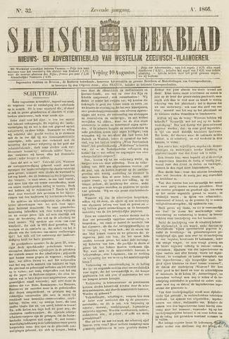 Sluisch Weekblad. Nieuws- en advertentieblad voor Westelijk Zeeuwsch-Vlaanderen 1866-08-10