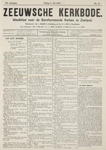 Zeeuwsche kerkbode, weekblad gewijd aan de belangen der gereformeerde kerken/ Zeeuwsch kerkblad 1923-07-06