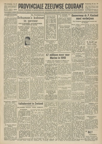 Provinciale Zeeuwse Courant 1948-01-29